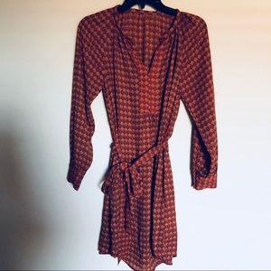 [Banana Republic] Vintage pattern belted dress